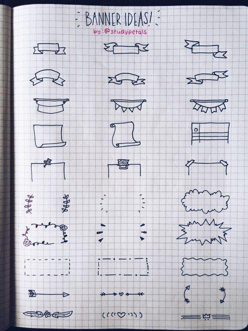 Великолепные идеи для оформления конспектов и ежедневников от studypetals (tumblr)<br><br>#Schooltime_notebooks