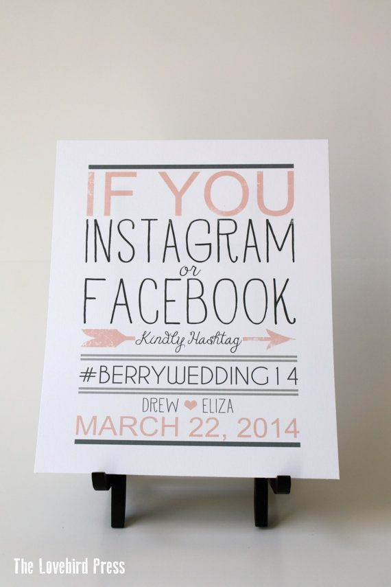 If you Instagram or Facebook Sign Printable by TheLovebirdPress