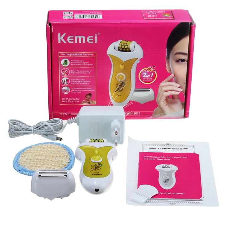 KM-1901 2 In 1 Electric Lady Hair Removal Shaving Facial Body Armpit Underarm Leg - NewChic