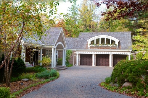 pretty...love the pergola over the garage doors: Garage Design, Clean Rooms, Rooms Addition, Garage Doors, Exterior Design, Garage Addition, Cars Garage, Traditional Exterior, Front Entrance