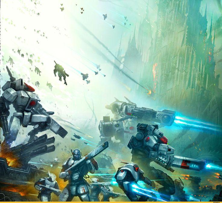 XV8 Crisis :: Tau Empire :: Warhammer 40000 :: сообщество фанатов / красивые картинки и арты, гифки, прикольные комиксы, интересные статьи по теме.