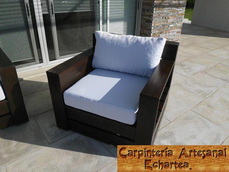 mega sillones en madera interior o exterior