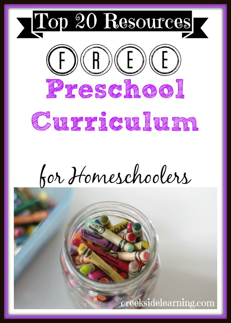 Top 20 Resources for Free Homeschool Preschool Curriculum