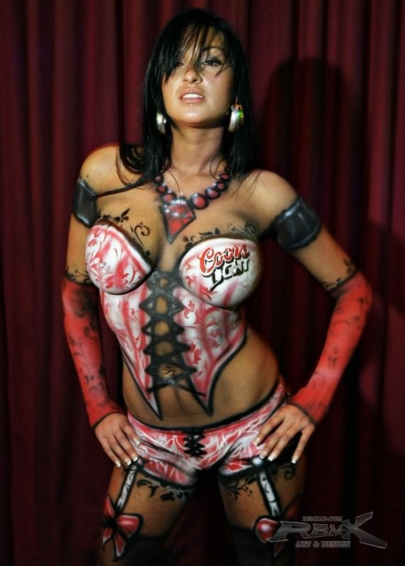 Black women with paint on body porn