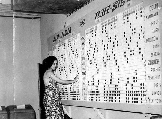 Air India Flight schedule 1963