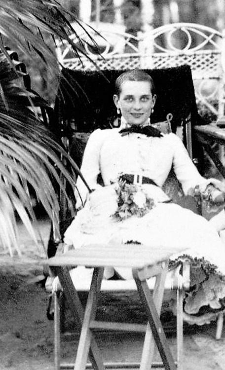 Princess Zenaida Youssoupoff recovering from typhus, 1884