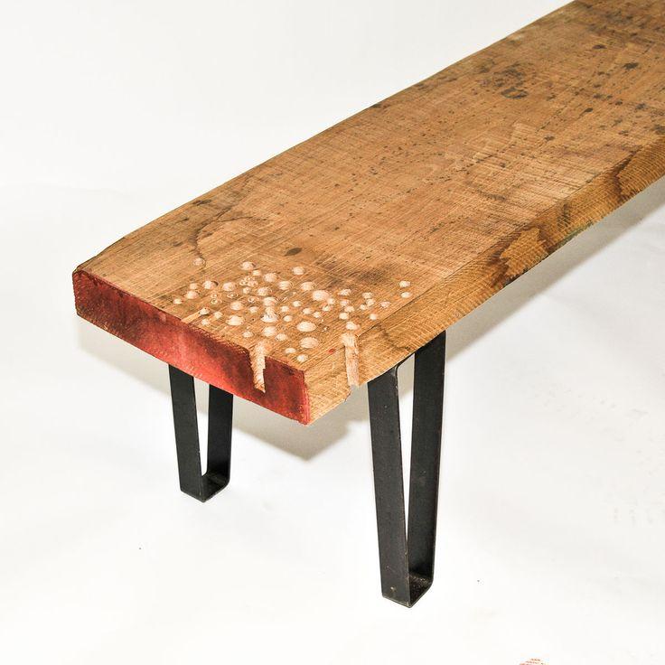 Sur mesure banc table plateau design en bois massif fait for Plateau bois sur mesure