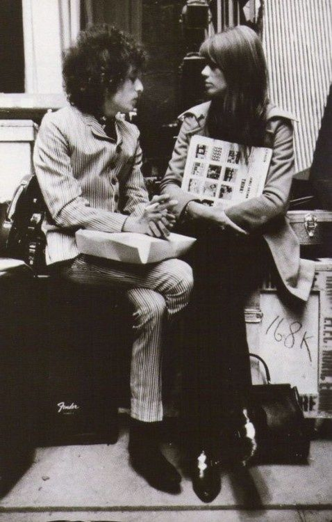 Bob Dylan and Françoise Hardy