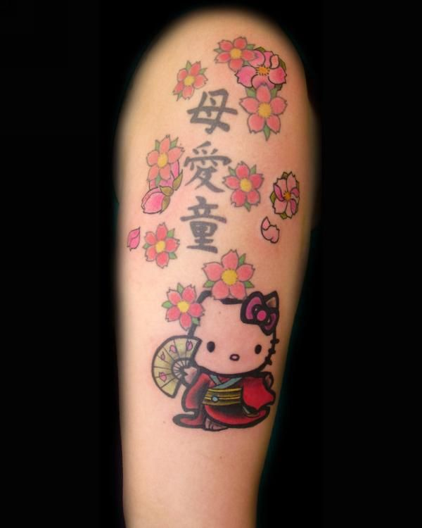 146 best hello kitty and friends tattoos images on for Hello kitty tattoo sleeve