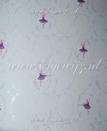 050. Miss Zoe | Caselio Miss Zoe | 123kinderbehang Ballerina ballet behang in paars zilver