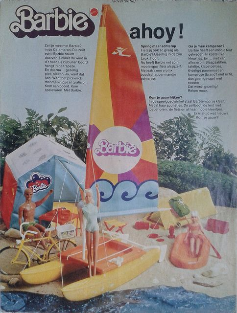 Barbie catamaran ** Dutch vintage ads from Tina: the largest magazine for girls 1978