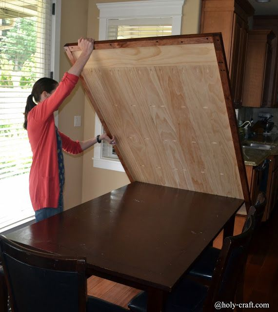 Easy DIY planked table top cover for your existing table