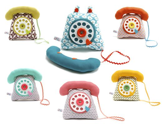 Telephone inspired: Lisa Sanchis, Lisa Factories, Plays Phones, Plays Rooms, Toys, Textiles, Retro Phone, Kids Phones, Kids Rooms