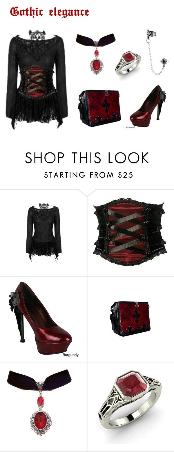 """""""Gothic Elegance"""" by artasshine ❤ liked on Polyvore featuring HADES and…"""