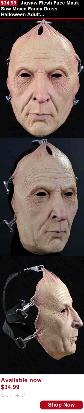 Costumes and reenactment attire: Jigsaw Flesh Face Mask Saw Movie Fancy Dress Halloween Adult Costume Accessory BUY IT NOW ONLY: $34.99