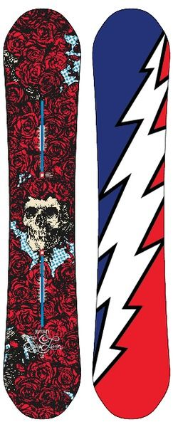 Grateful Dead three exclusive Burton snowboards just in time for Winter 2012. Showcased at the Vibes merch tent this weekend!