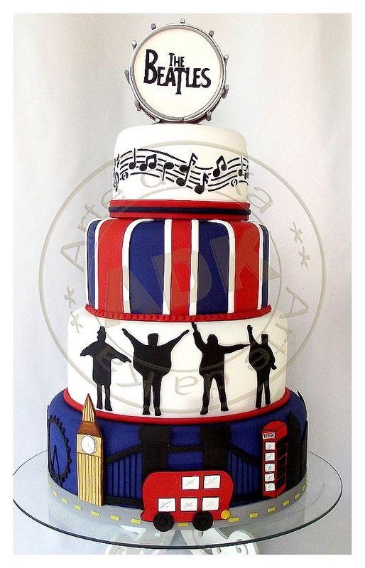 Beatles Cake by Arte da Ka, via Flickr