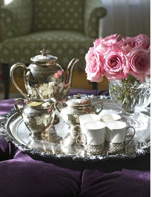 Tea...always nicer when using your sterling silver tea service