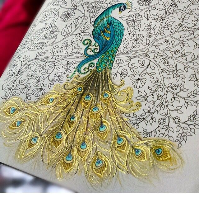 Gold Metallic In A Coloring Book