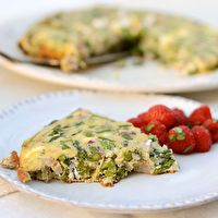Spring Frittata with Asparagus & Radishes by The Kitchn
