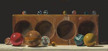 Robert E. Zappalorti, Concave Convex, 2008, oil on panel, 6 3/4 X 14 7/8 inches