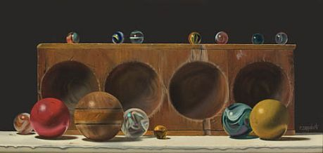 Robert E. Zappalorti, Concave Convex, 2008, oil on panel, 6 3/4 X 14 7/8 inches