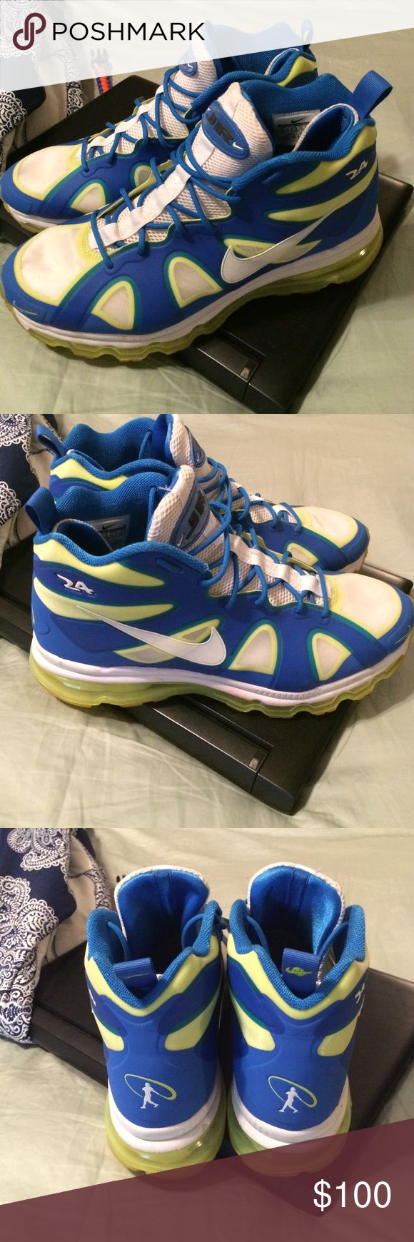 Nike Ken Griffey Jr.'s Great Condition! In the volt/blue color way Nike Shoes Athletic Shoes