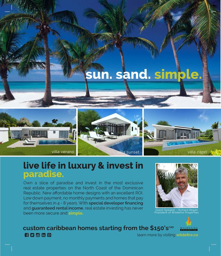 Buying a Caribbean home starting in the $150's CAD/$119,800 US. Live in a beautiful & friendly gated community. See why so many North Americans love living here! Contact Richard Regan at Richr@wildefire.co