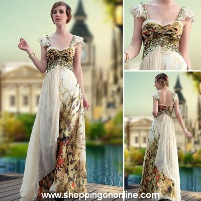 Long Evening Gown - Chiffon Leopard Printed $207.00 (was $245) Click here to see more details http://shoppingononline.com #LongEveningGown #ChiffonEveningGown #LeopardEveningGown #PrintedEveningGown #CustomMadeDress