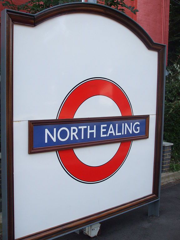 North Ealing London Underground Station in Ealing, Greater London
