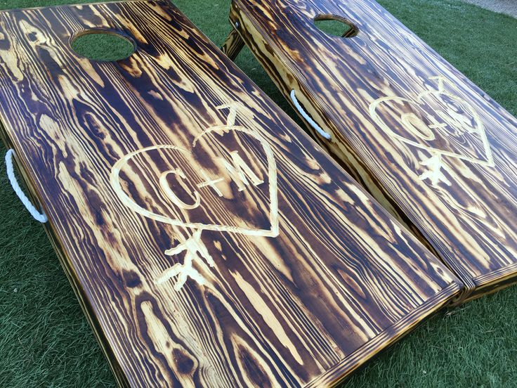 Burner and Engraved Custom Cornhole Boards - West Georgia Cornhole