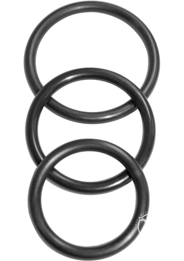 Buy Sex And Mischief Nitrile Cock Ring 3 Pack Black online cheap. SALE! $7.49