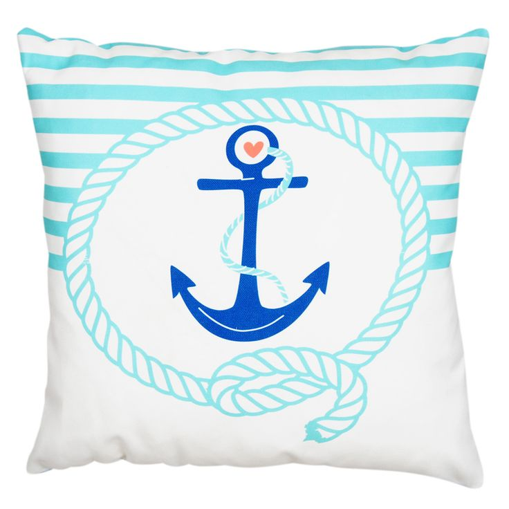 Dolce Home  Nautica Kare Yastık Marine- Mavi : 39,90 TL | evmanya.com