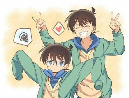 Conan and Shinichi :) --Detective Conan--