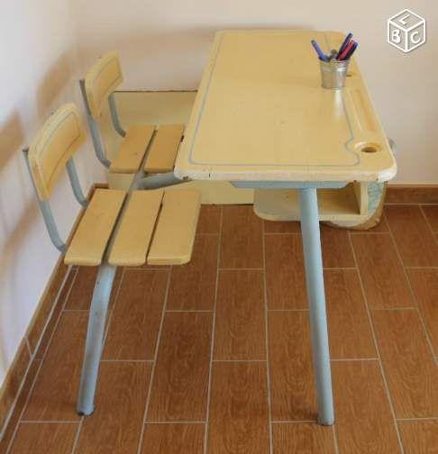 25 best ideas about bureau ancien on pinterest tables - Bureau ecolier relooke ...