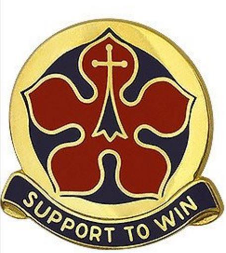 360th Adjutant General Battalion Unit Crest (Support To Win)