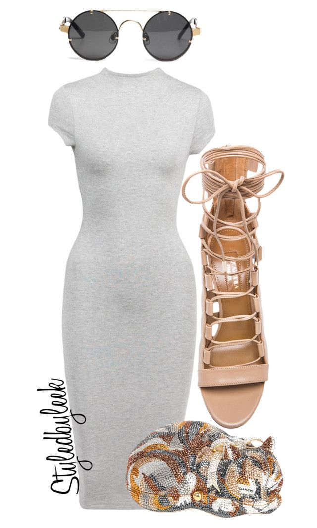 """Untitled #626"" by stylebywho ❤ liked on Polyvore featuring Aquazzura and Judith Leiber"