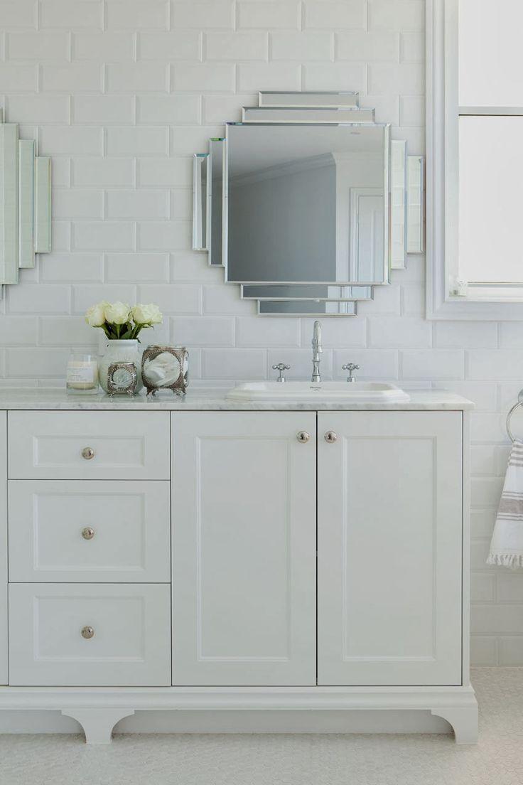 pretty art deco style mirrors   Hamptons charm in Queensland