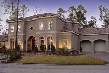 Mediterranean Home Exterior Color Schemes Design Ideas, Pictures, Remodel, and Decor