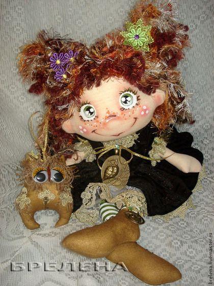Текстильная кукла Повелительница мудрых сов. - текстильная кукла,купить текстильную куклу