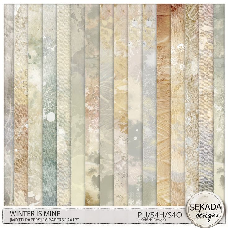 Digital Art :: Paper Packs :: Winter Is Mine [Mixed Papers]