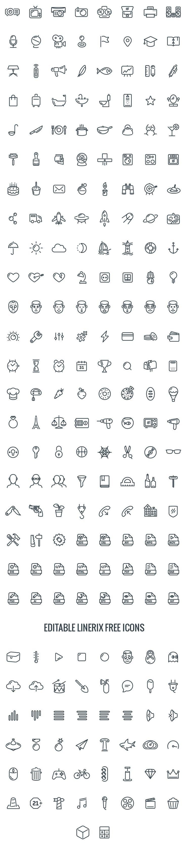 Linerix Icon set