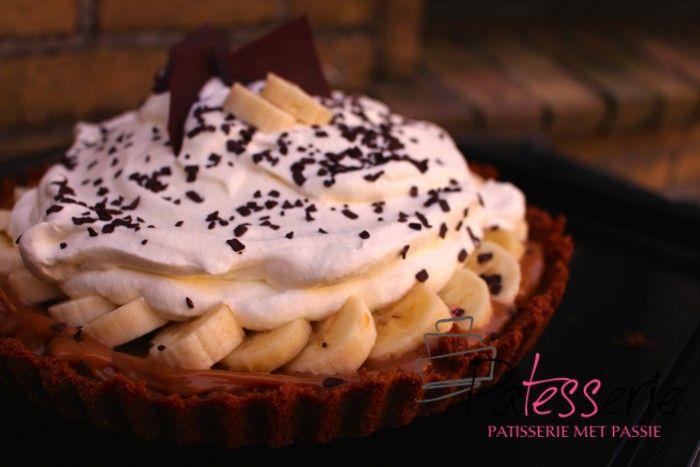 Banoffee+taart:+Bastognebodem,+Dulce+de+Leche,+Banaan+en+Slagroom.+Zo+simpel+en+zo+lekker!