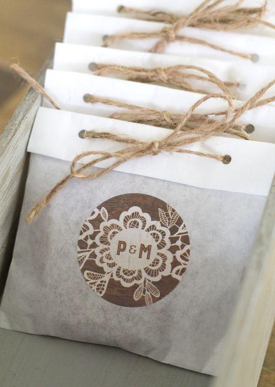 Cute wedding favor packaging ideas!