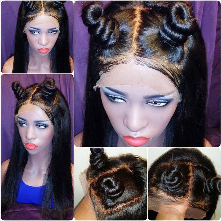 Court Full Lace Perruques de Cheveux Humains Pour Les Femmes Noires Brésilienne Vierge cheveux Pleine Perruque de Lacet Avec Bébé Cheveux Soyeux Dentelle Droite Avant perruque