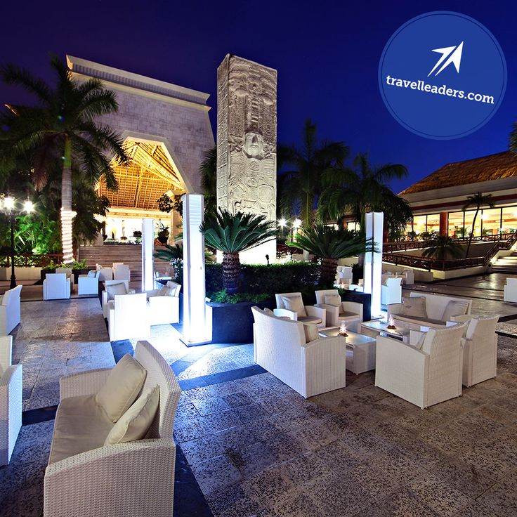 Chill at an outdoor lounge at the Grand Bahia Principe Coba and discover paradise. #TravelLeaders #TravelAgent