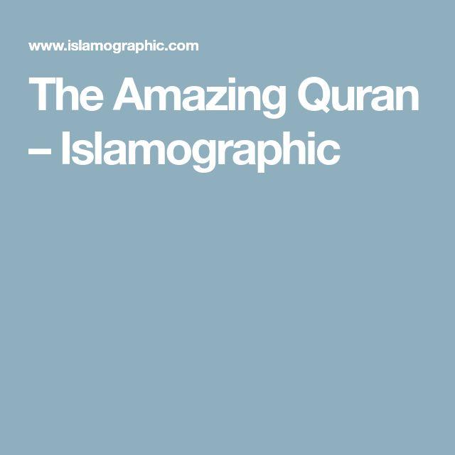 The Amazing Quran – Islamographic