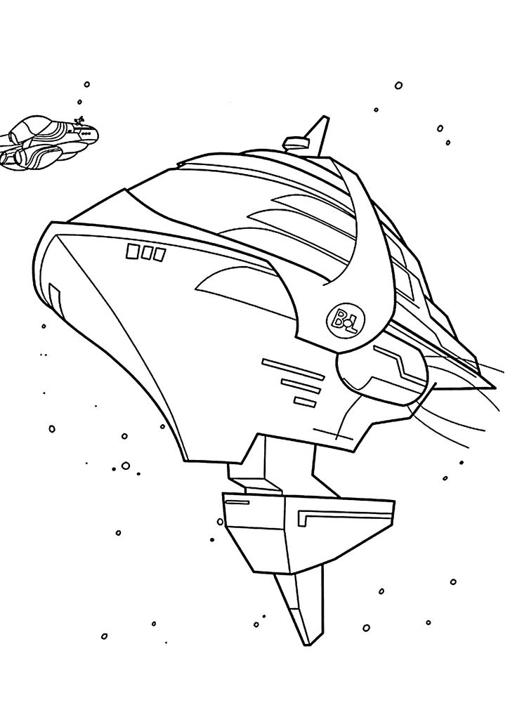 spaceship from wall e cartoon coloring pages for kids printable free