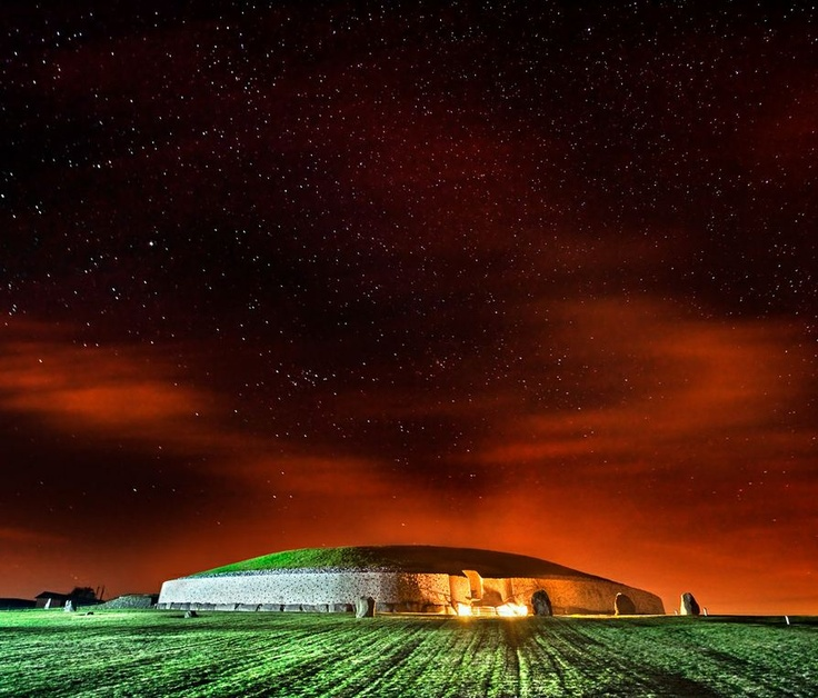 """Newgrange, in Ireland is older than Stonehenge and the Egyptian pyramids. """"There is no agreement about what the site was used for, but it has been speculated that it had religious significance – it is aligned with the rising sun and its light floods the chamber on the Winter Solstice."""" -wiki"""