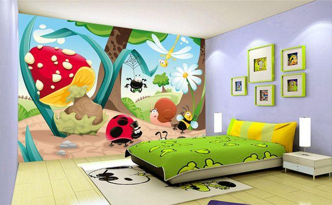 papier peint personnalisé chambre bébé - Drôles les pztites bêtes